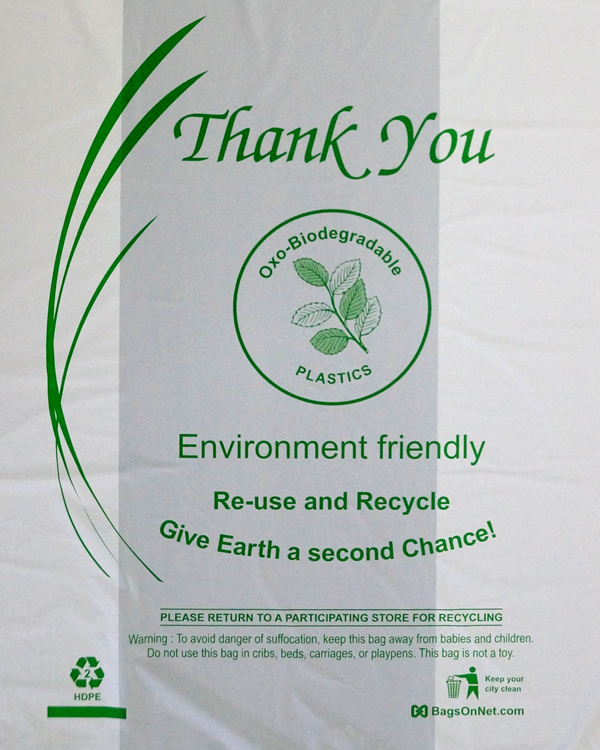 Small Oxo-Biodegradable White Bags w/Free Shipping