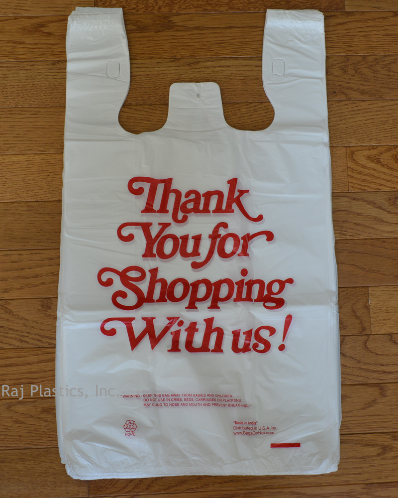 Small White Thank You Plastic Ping Bags 10k