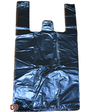 Medium Black Plastic Shopping Bags - Packed 1000 Per Box - BagsOnNet