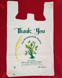 Mini Jumbo Oxo Biodegradable White Thank You Printed