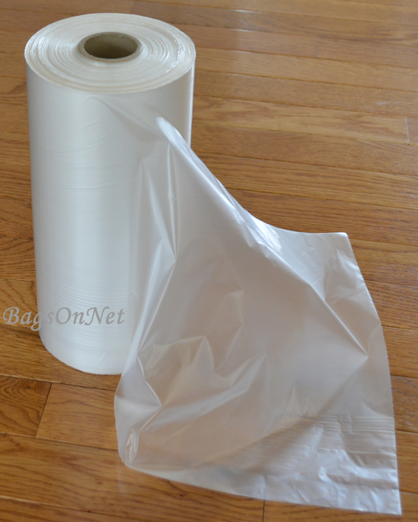 Clear Plastic Bags On Roll 10x15 Inch Packed 4 Rolls Per