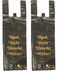 Black Thank You Shopping Bags-Slight Imperfection