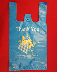 Medium Blue Oxo Biodegradable Plastic Bags, Heavy