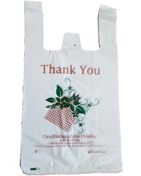 Oxo-Biodegradable White Shopping Bags