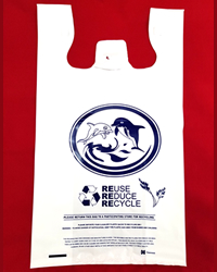 Large, Heavy Duty, Dolphin Printed Shopping Bags