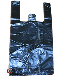 Large Black Plastic Shopping Bags, Heavy