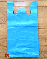 "Large, Blue, 12""W x 6""D x 22""H,  Shopping Bags"