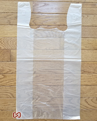 "Large, Clear, 12""W x 6""D x 22""H, Shopping Bags"