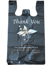 Extra-Large, Black, Oxo Biodegradable Plastic Bags
