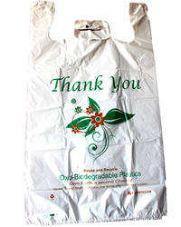 Extra-Large, White, Oxo Biodegradable Plastic Bags