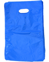 "Die-Cut Handle, Blue,8""W x12""H Shopping Bags"
