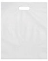 "Die-Cut Handle, White,8""W x12""H Shopping Bags"